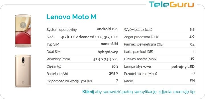 specyfikacja Lenovo Moto M