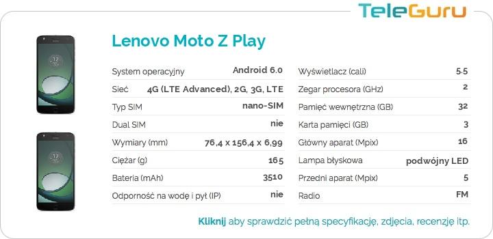 specyfikacja Lenovo Moto Z Play