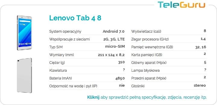 specyfikacja Lenovo Tab 4 8