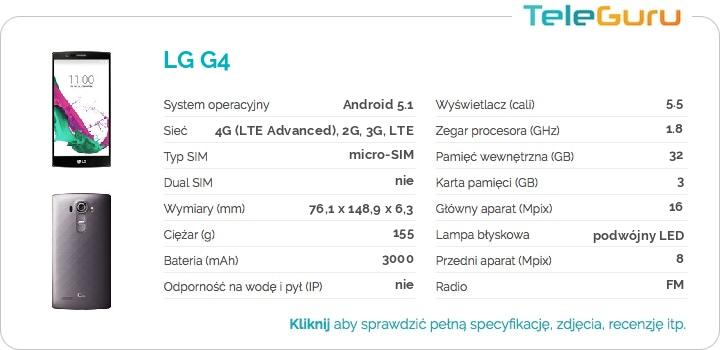 specyfikacja LG G4