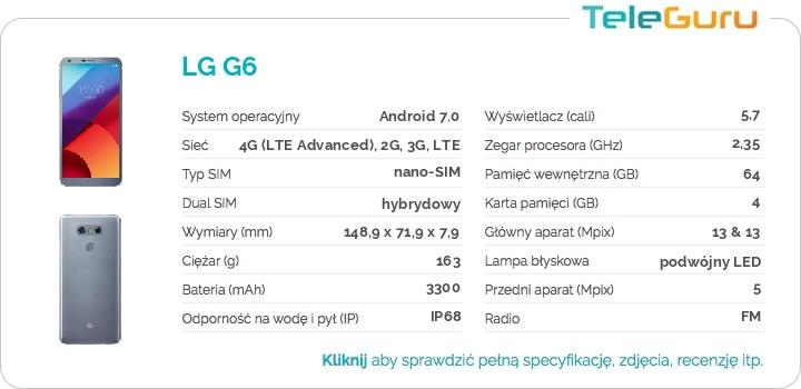 specyfikacja LG G6
