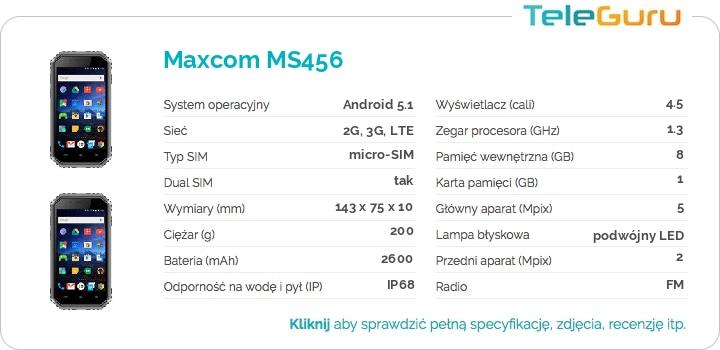 specyfikacja Maxcom MS456