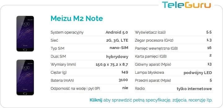 specyfikacja Meizu M2 Note