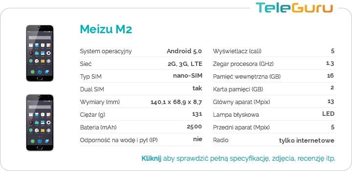 specyfikacja Meizu M2