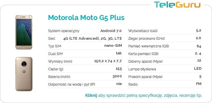 specyfikacja Motorola Moto G5 Plus