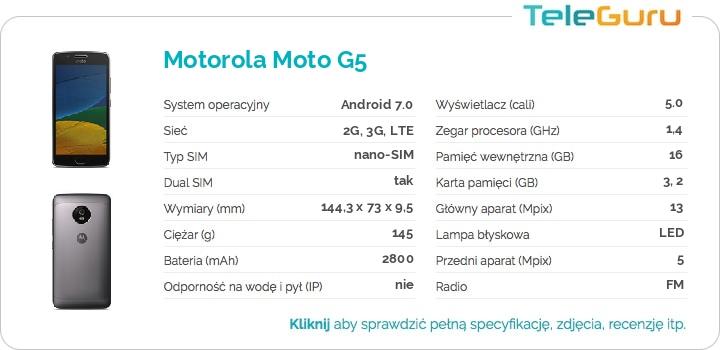 specyfikacja Motorola Moto G5