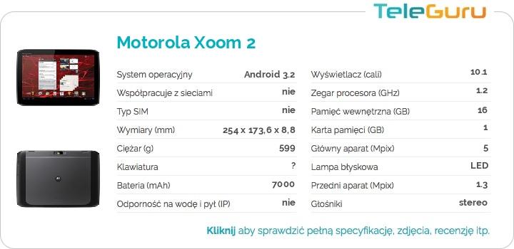 specyfikacja Motorola Xoom 2