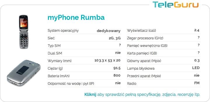 specyfikacja myPhone Rumba