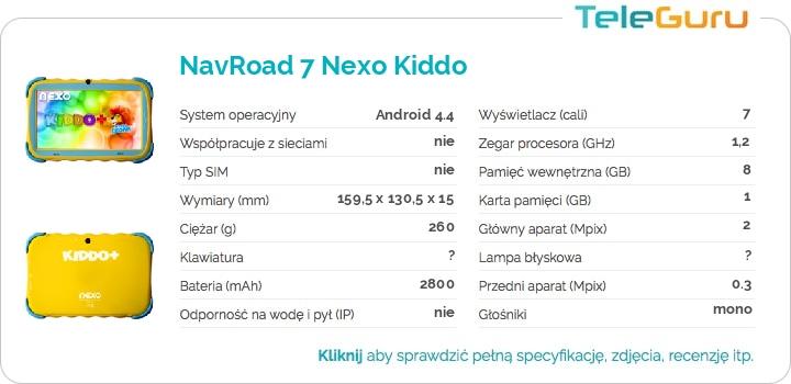 specyfikacja NavRoad 7 Nexo Kiddo
