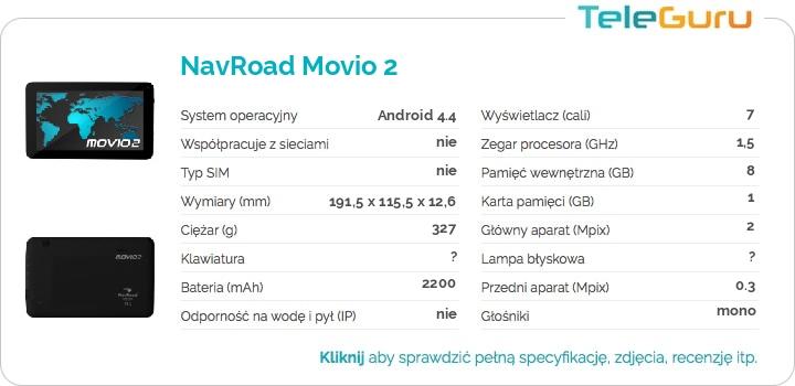 specyfikacja NavRoad Movio 2