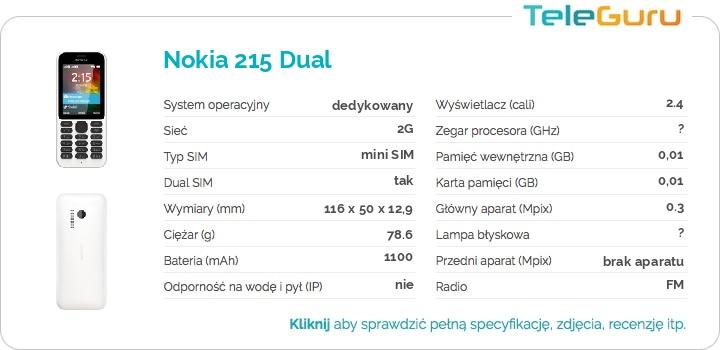 specyfikacja Nokia 215 Dual