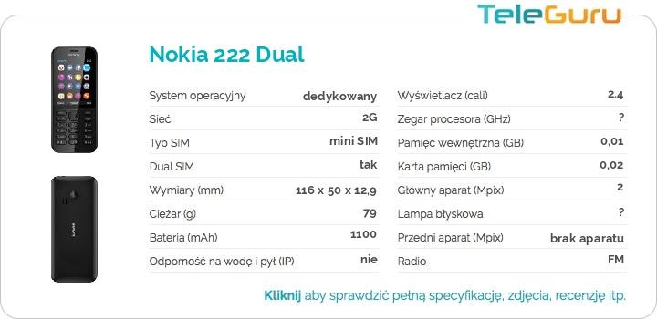 specyfikacja Nokia 222 Dual