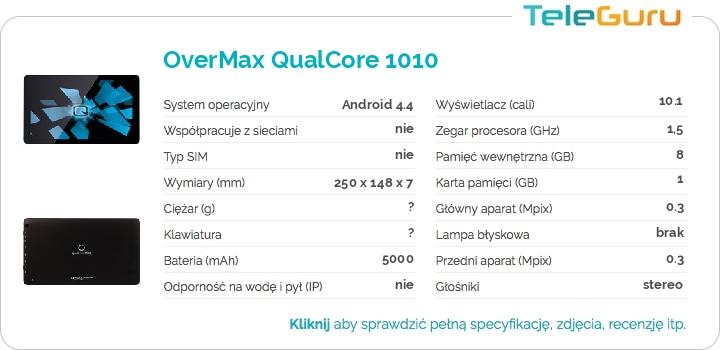 specyfikacja OverMax QualCore 1010