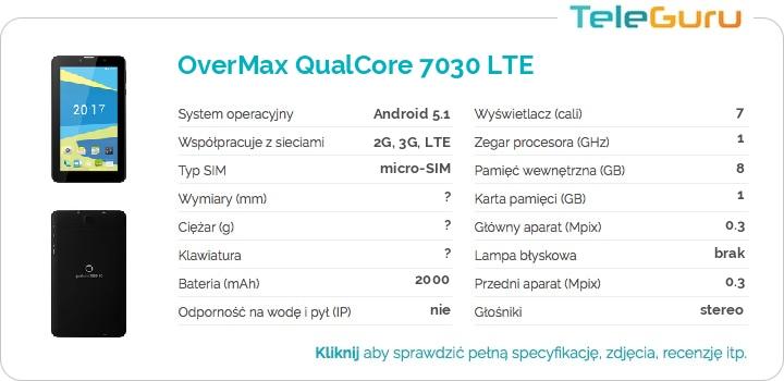 specyfikacja OverMax QualCore 7030 LTE