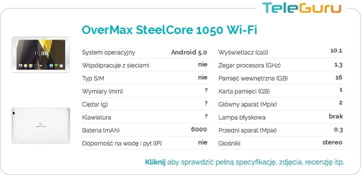 specyfikacja OverMax SteelCore 1050 Wi-Fi