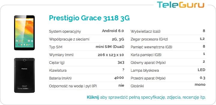 specyfikacja Prestigio Grace 3118 3G