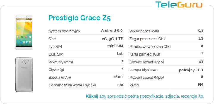 specyfikacja Prestigio Grace Z5