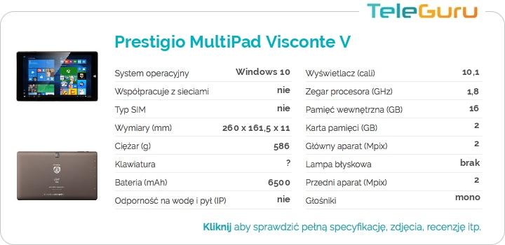 specyfikacja Prestigio MultiPad Visconte V