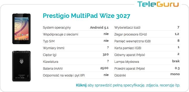 specyfikacja Prestigio MultiPad Wize 3027