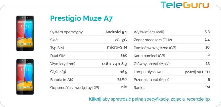 specyfikacja Prestigio Muze A7