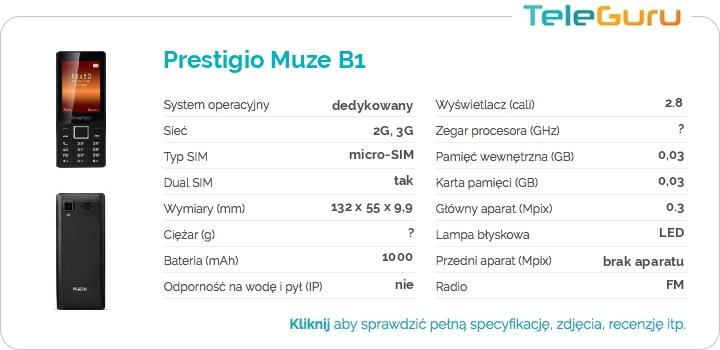 specyfikacja Prestigio Muze B1