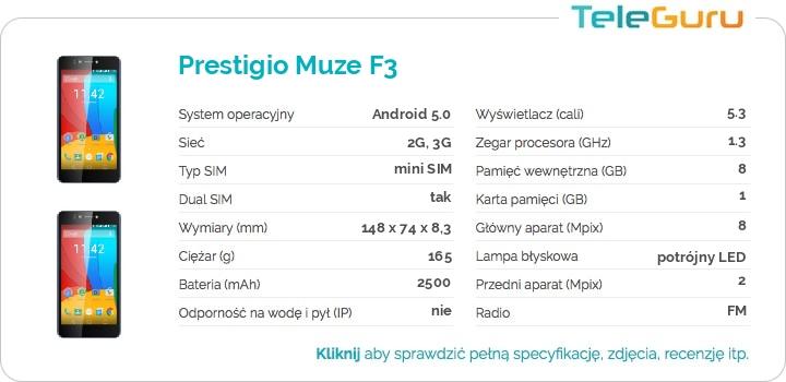 specyfikacja Prestigio Muze F3