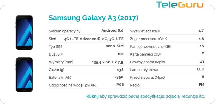 specyfikacja Samsung Galaxy A3 (2017)