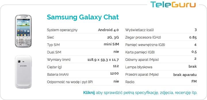 specyfikacja Samsung Galaxy Chat