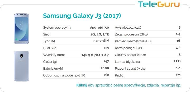 specyfikacja Samsung Galaxy J3 (2017)
