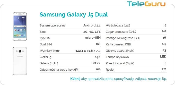 specyfikacja Samsung Galaxy J5 Dual