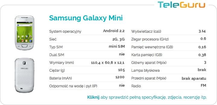 specyfikacja Samsung Galaxy Mini