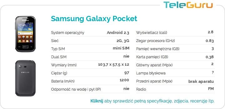 specyfikacja Samsung Galaxy Pocket