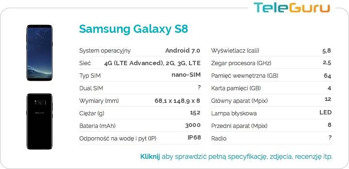specyfikacja Samsung Galaxy S8