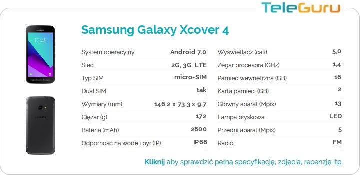 specyfikacja Samsung Galaxy Xcover 4