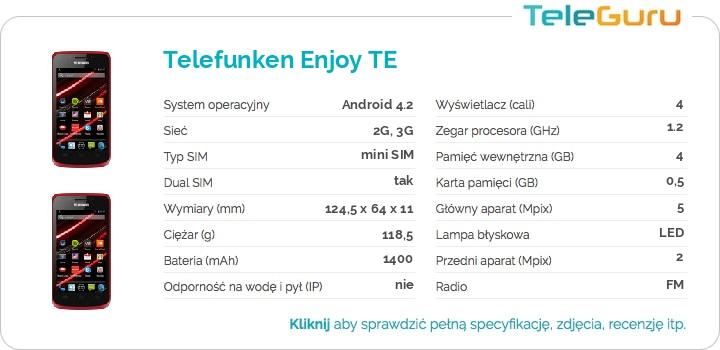 specyfikacja Telefunken Enjoy TE