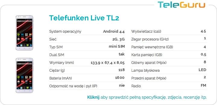 specyfikacja Telefunken Live TL2