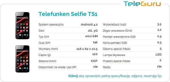 specyfikacja Telefunken Selfie TS1
