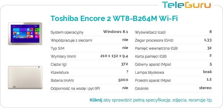 specyfikacja Toshiba Encore 2 WT8-B264M Wi-Fi