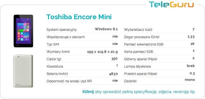 specyfikacja Toshiba Encore Mini