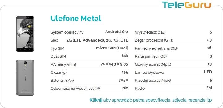 specyfikacja Ulefone Metal