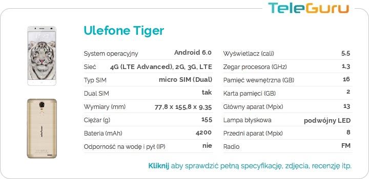 specyfikacja Ulefone Tiger