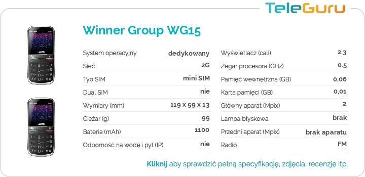 specyfikacja Winner Group WG15