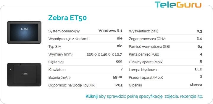 specyfikacja Zebra ET50